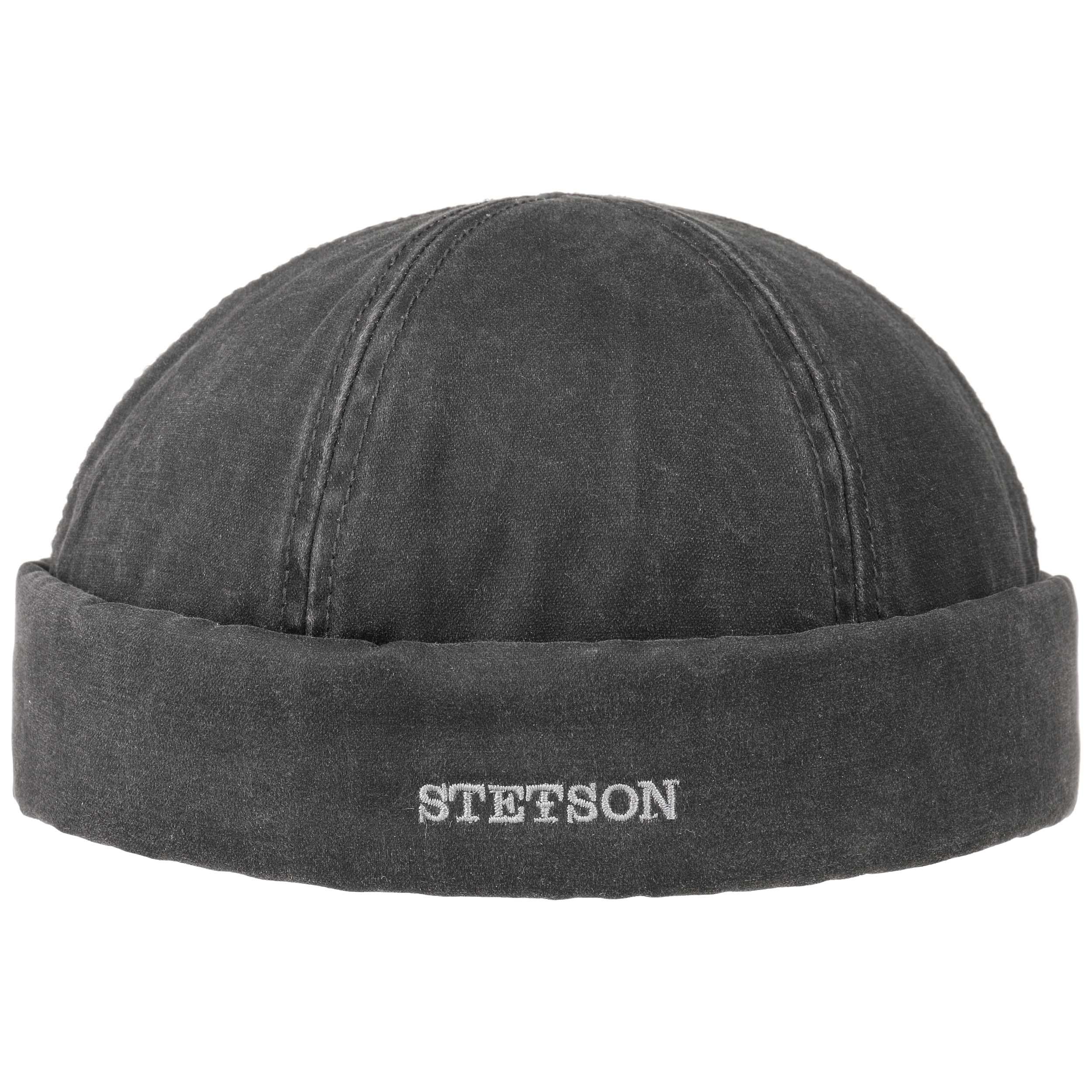 Stetson Docker Waxed Cotton Black