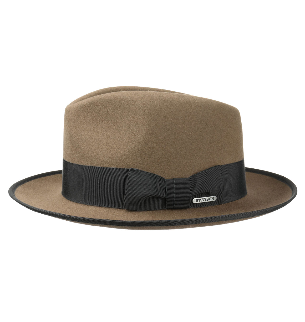 Stetson Fedora Furfelt Brown / black