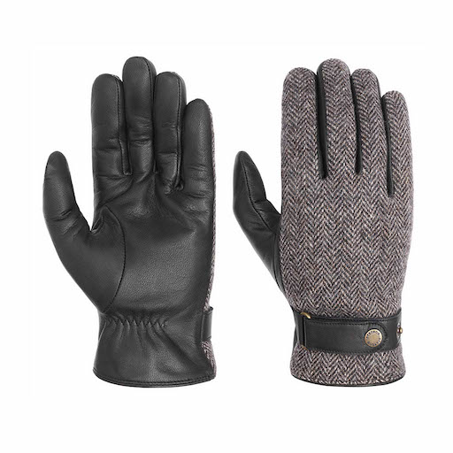 Stetson Gloves Woolrich Leather Black