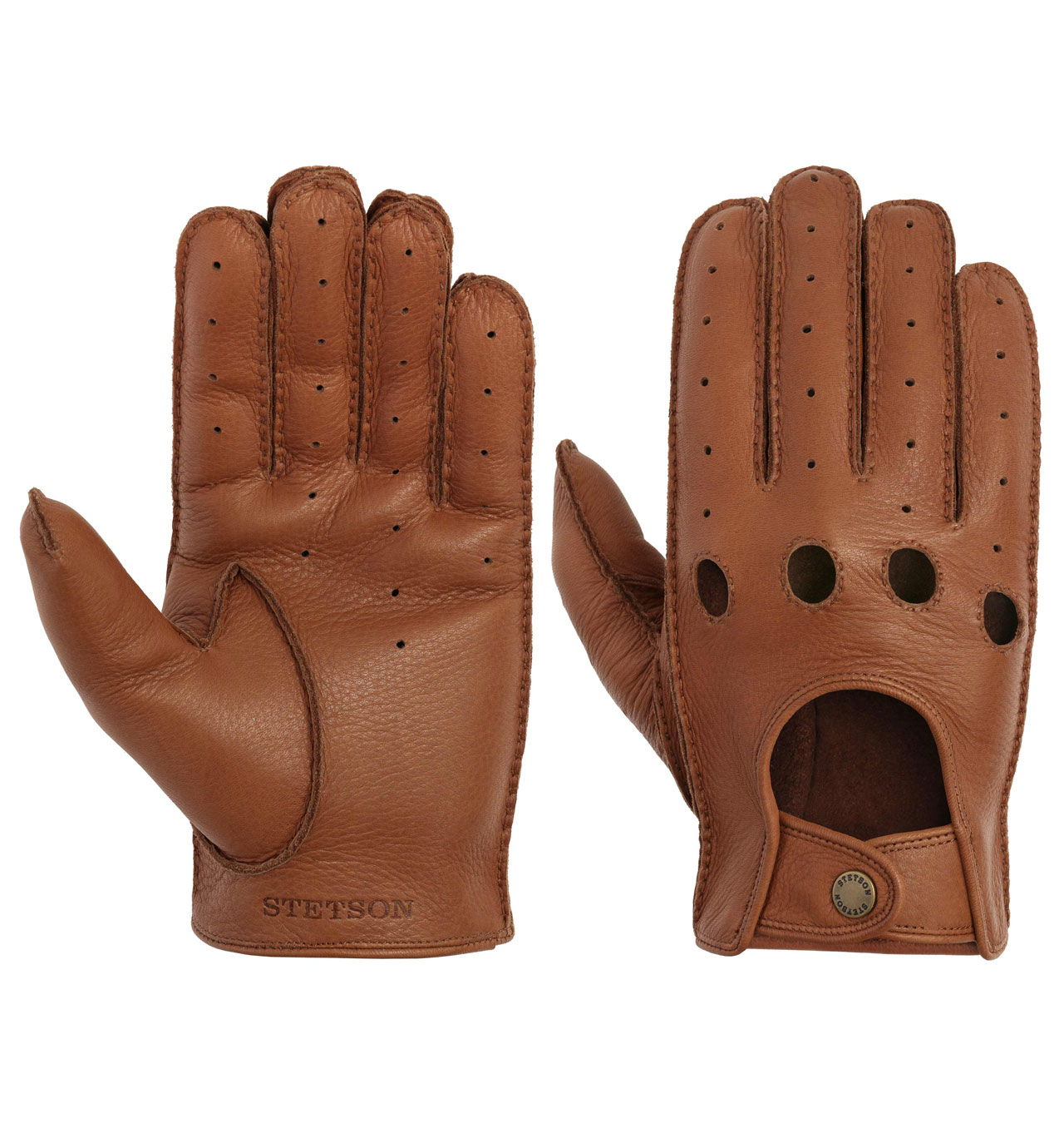 Stetson Gloves Convertible Deer Napa Brown