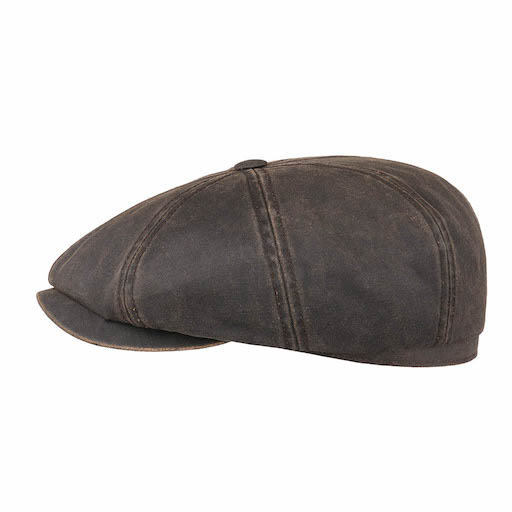Stetson Hatteras Waxed Cotton Ear flaps Brown