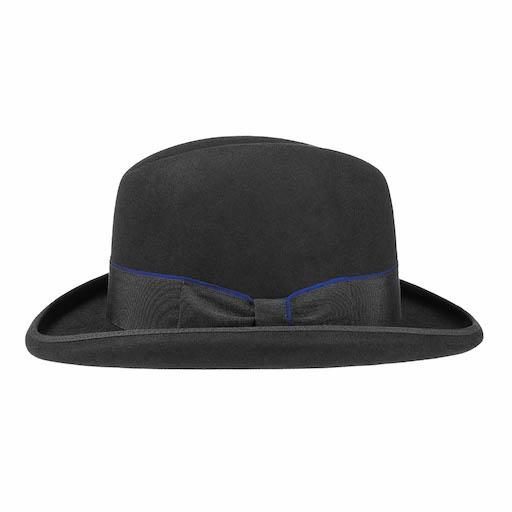 Stetson Homburg Furfelt Hat Black