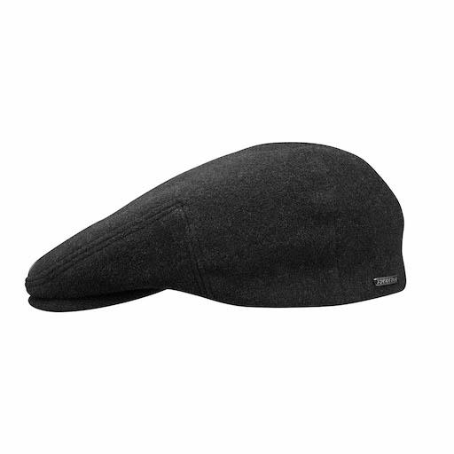 Stetson Kent Wool Cashmere Ear Flaps Black