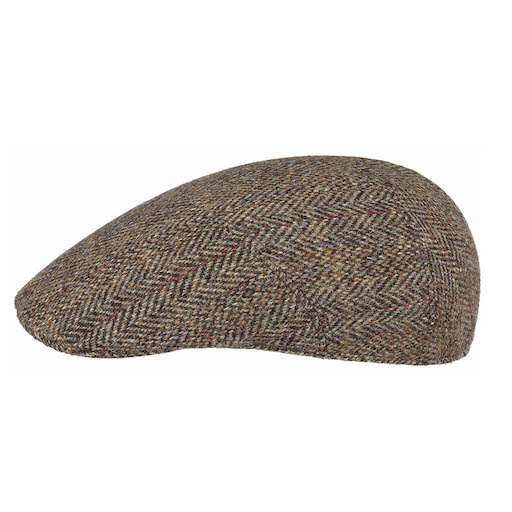 Stetson Ivy Cap Harris Tweed Virgin Wool Brown