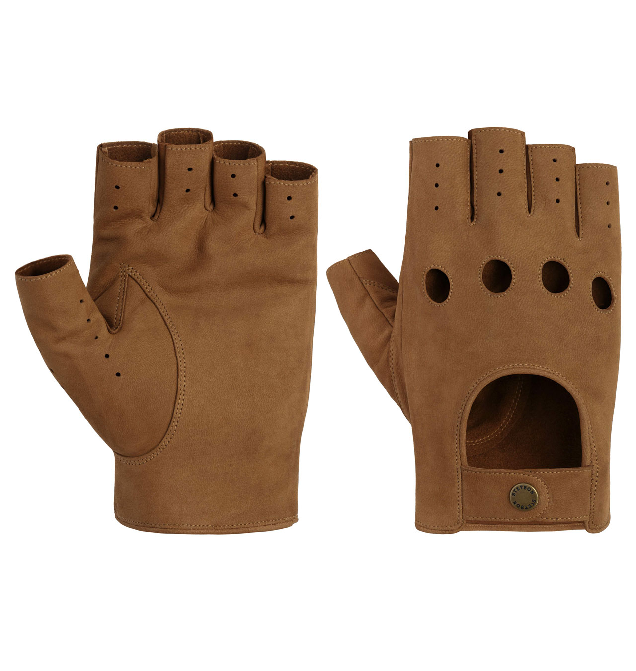 Stetson Racing Gloves Goat Nubuck Brown