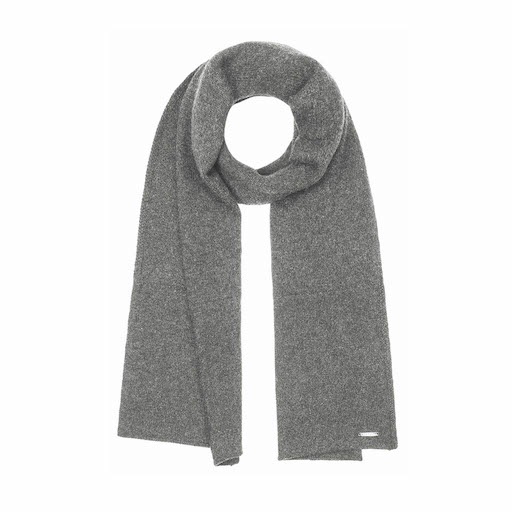 Stetson Scarf Cashmere Wool Knit Grey