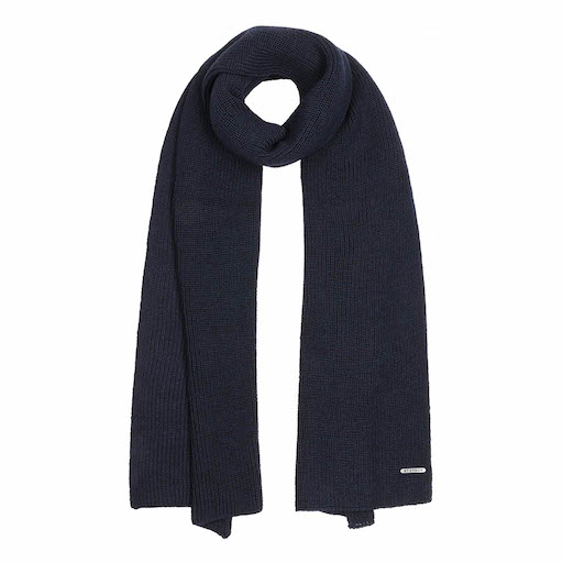 Stetson Scarf Merino Wool Navy