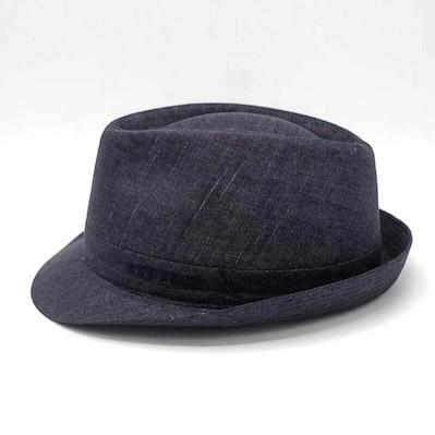 Stetson Trilby Linen Dark blue