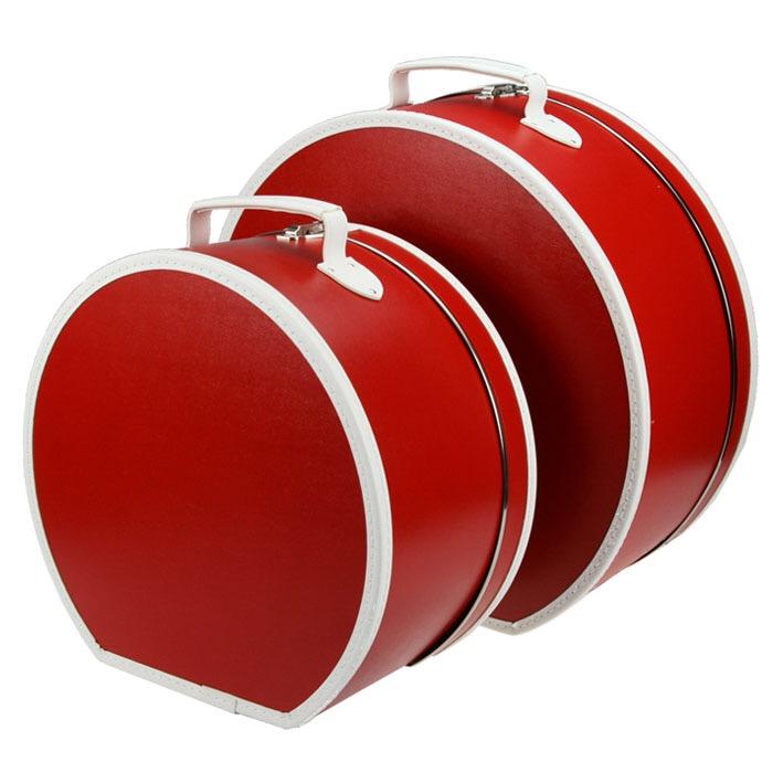 Hattbox Röd/Vit