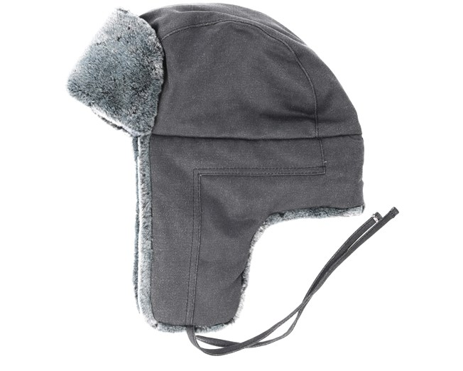 Stetson Bomber Cap Fake Fur Grey
