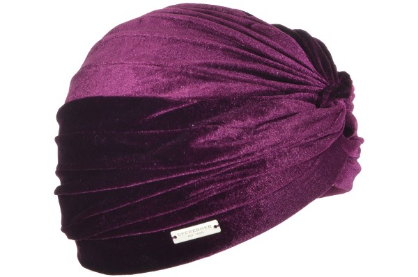 Seeberger Sammet Turban Burgundy Red