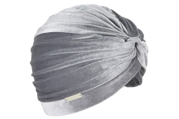 Seeberger Turban Sammet Smoke Grey