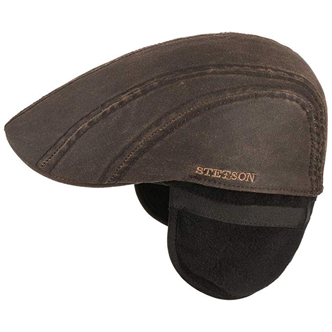 Stetson Old Cotton Flatcap Brown