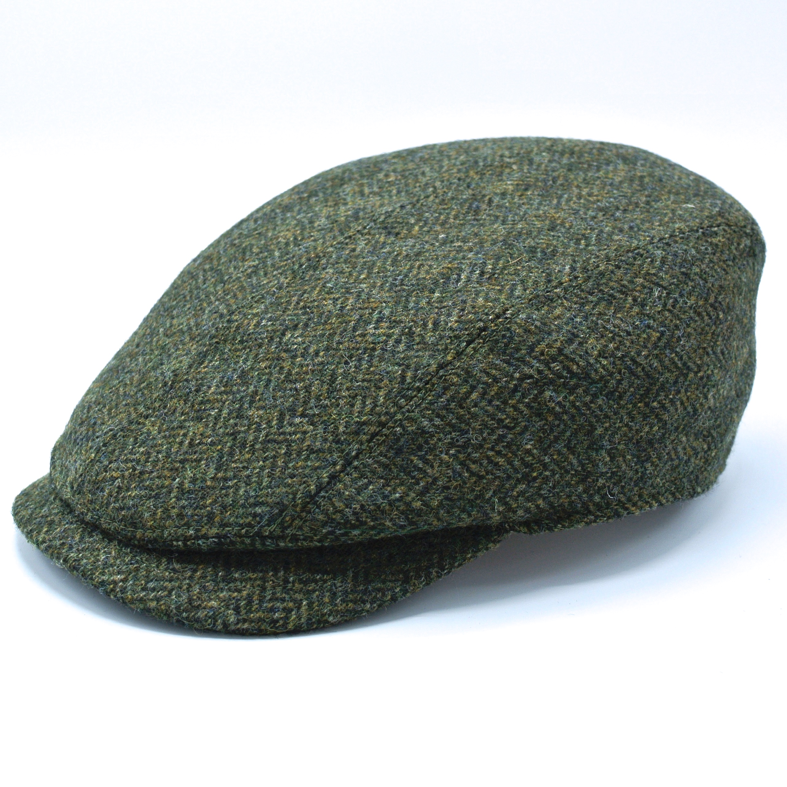 Lawrens and Foster Flat Cap Tweed Dark Green