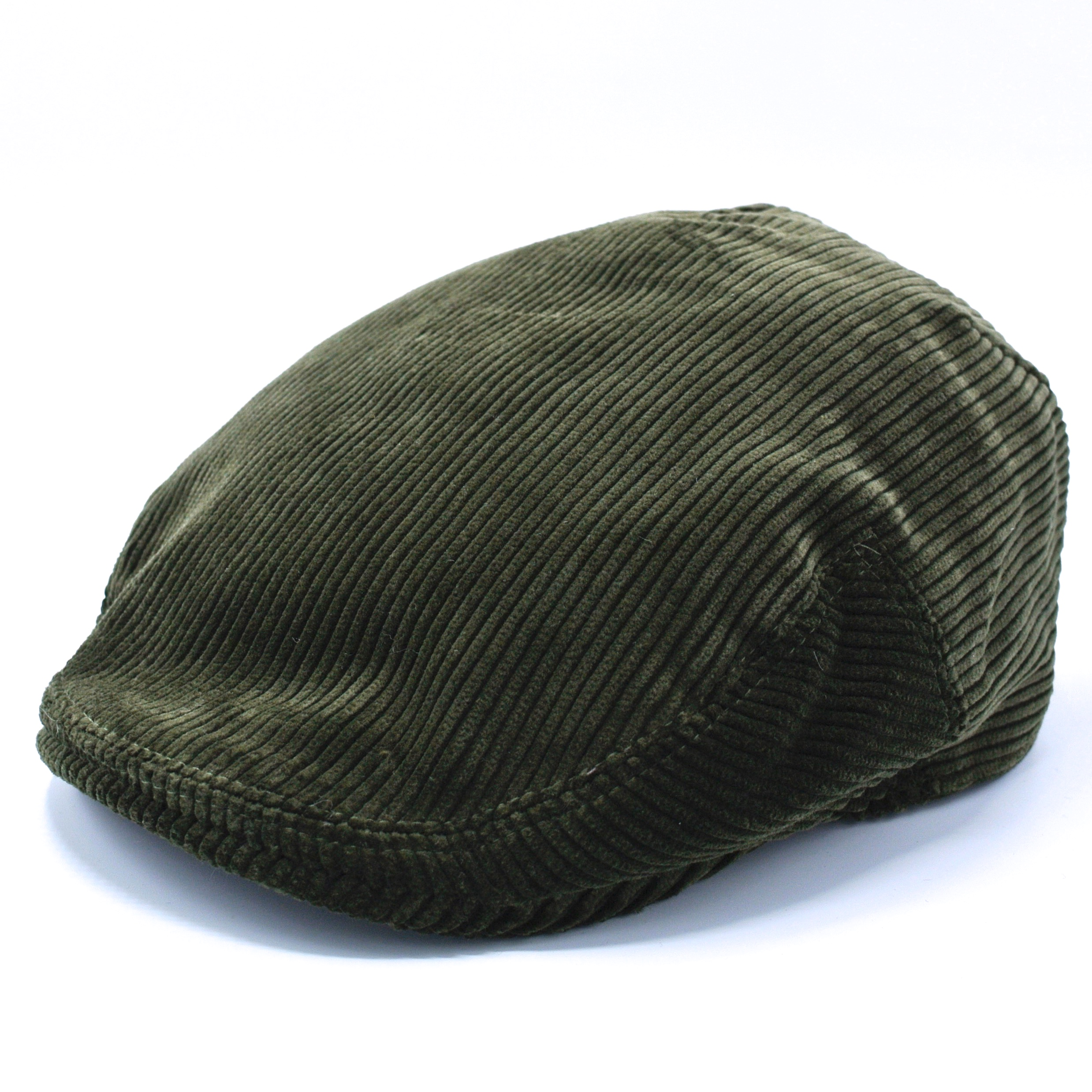 Lawrence and Foster Flat Cap Green Cord