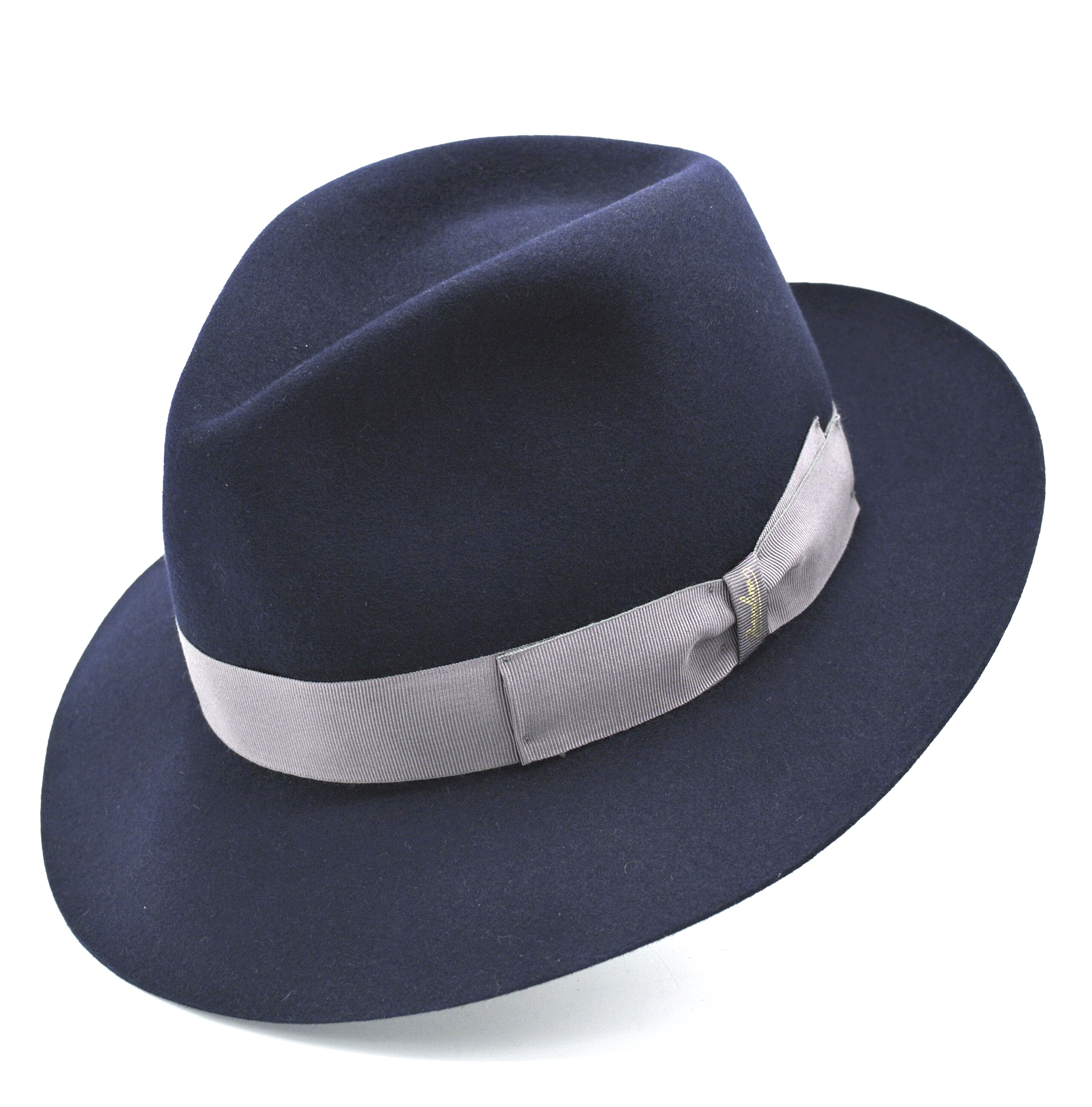 Borsalino Fedora Hat 50 Grammi Dark Blue