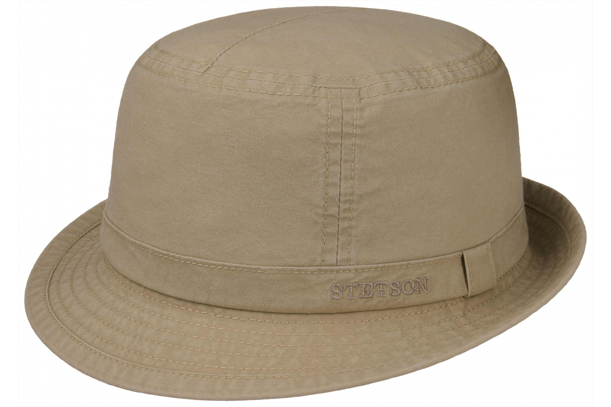 Stetson Gander Trilby Delave Cotton Light Brown