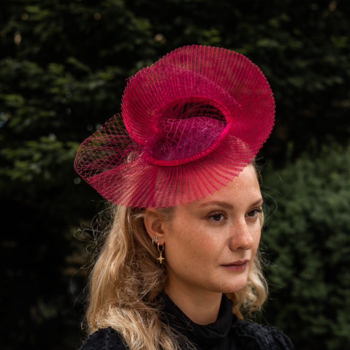 Seeberger Berry Red Fascinator