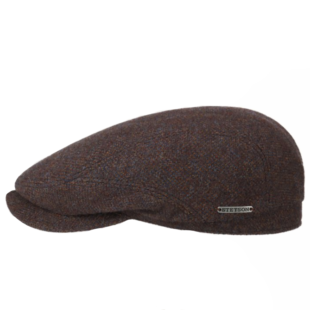 Stetson Driver Cap Wool Herringbone Burgundy