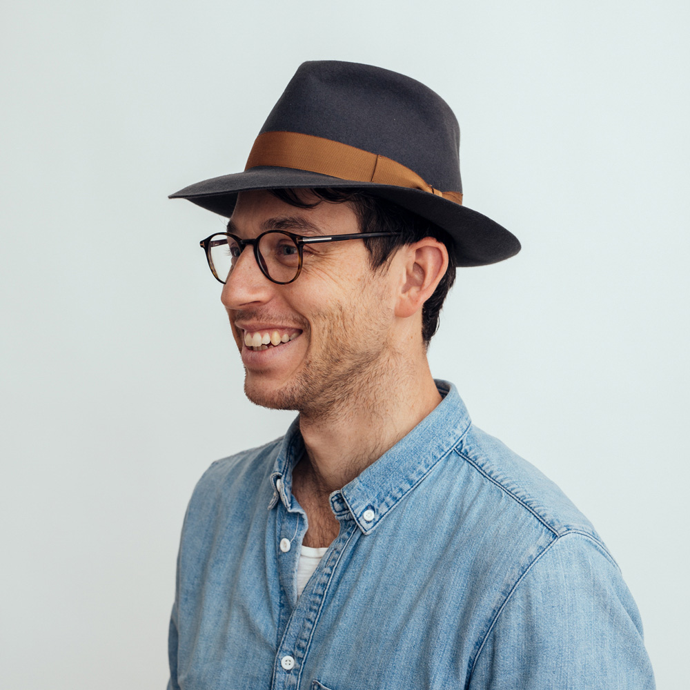 Borsalino Fedora Hat 50 Grammi Grey
