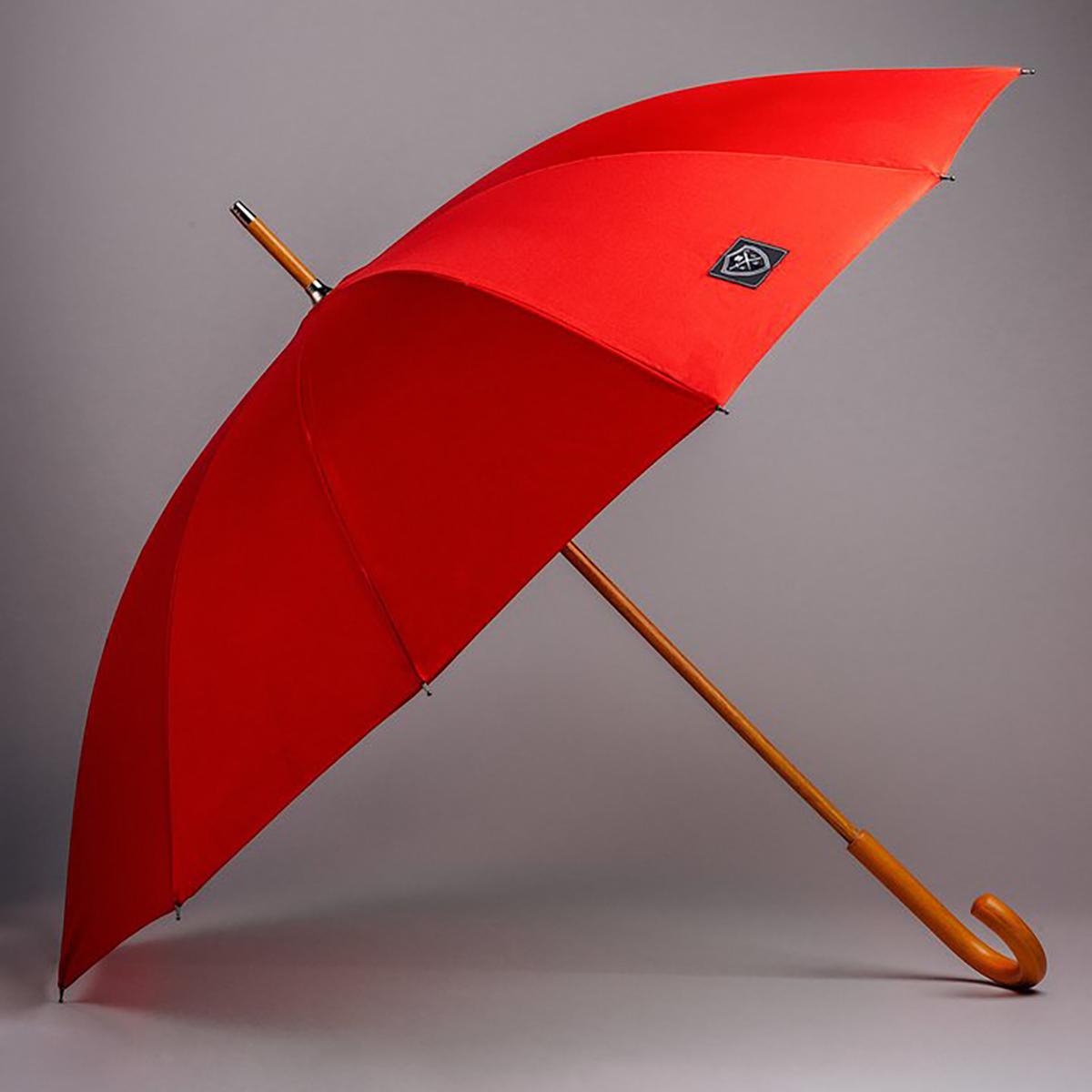 Rain & Son Klassisk Paraply Mörkrött