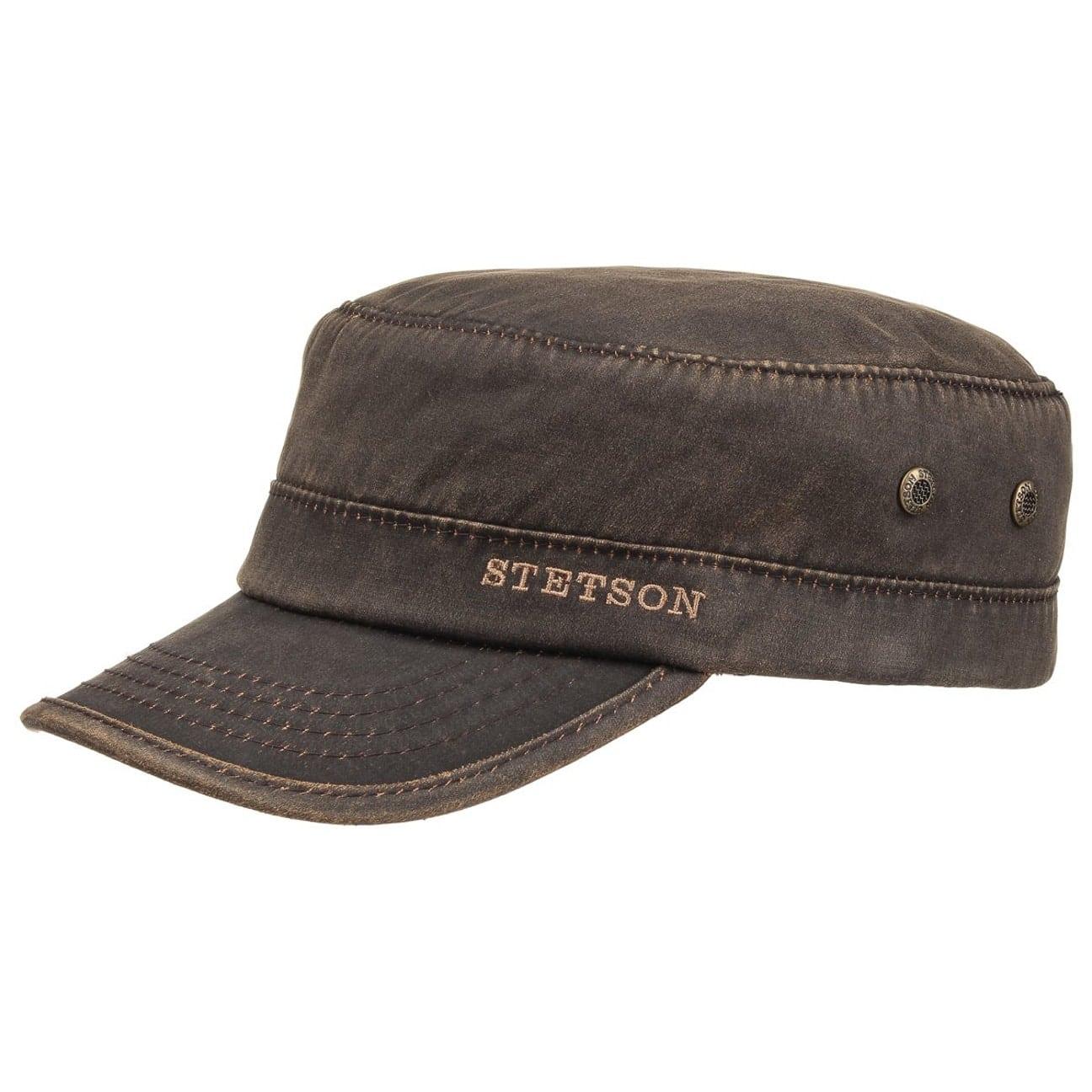 Stetson Army Cap Waxed Brown