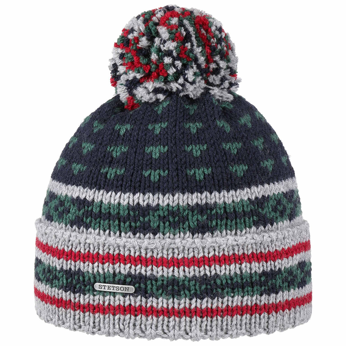 Stetson Multicoloured Pompom Hat