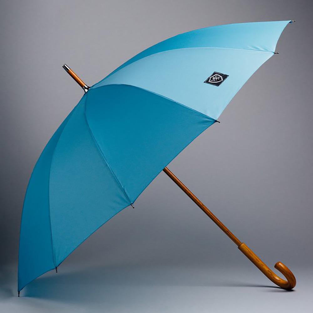 Rain & Son Klassiskt Paraply Ljusblått