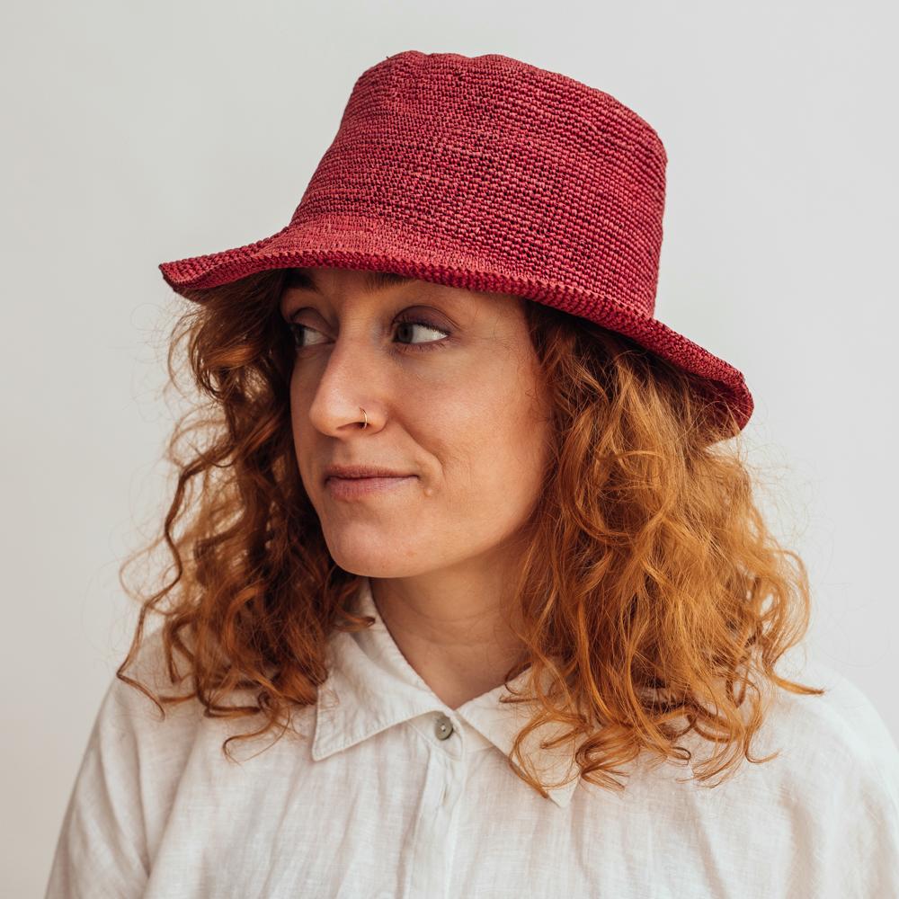 Ecua-Andino Hippie Raffia Red