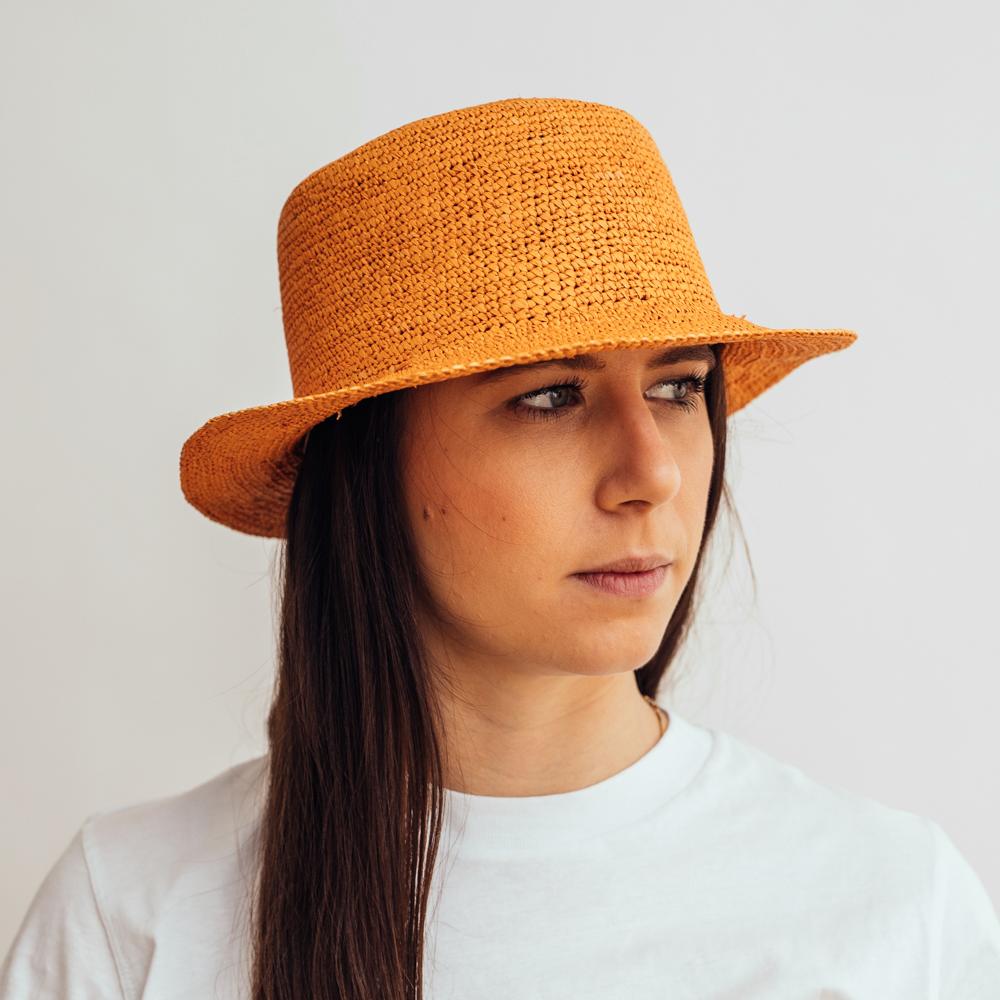 Ecua-Andino Hippie Raffia Orange
