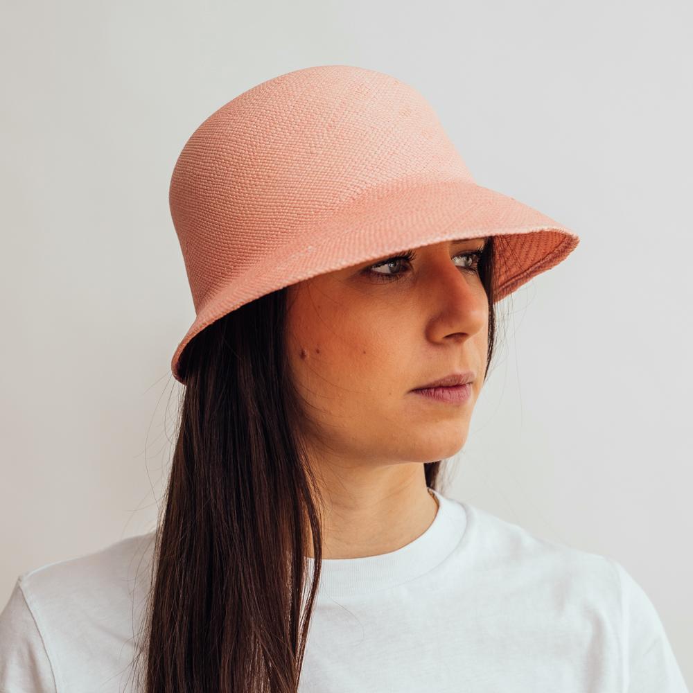 Ecua-Andino Panama Cloche Pink