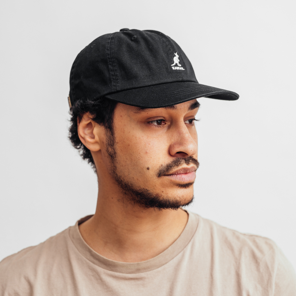 Kangol Washed Baseball Black