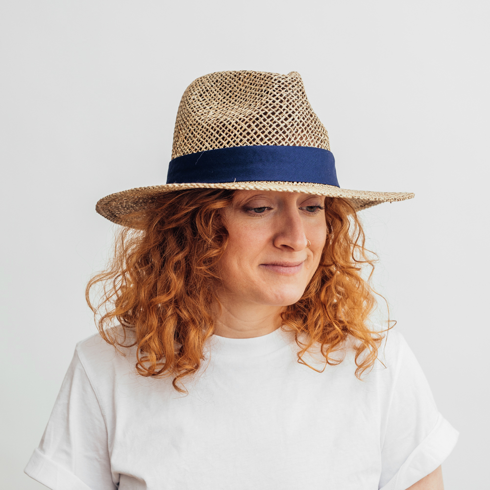 Salon Fedora Straw Hat