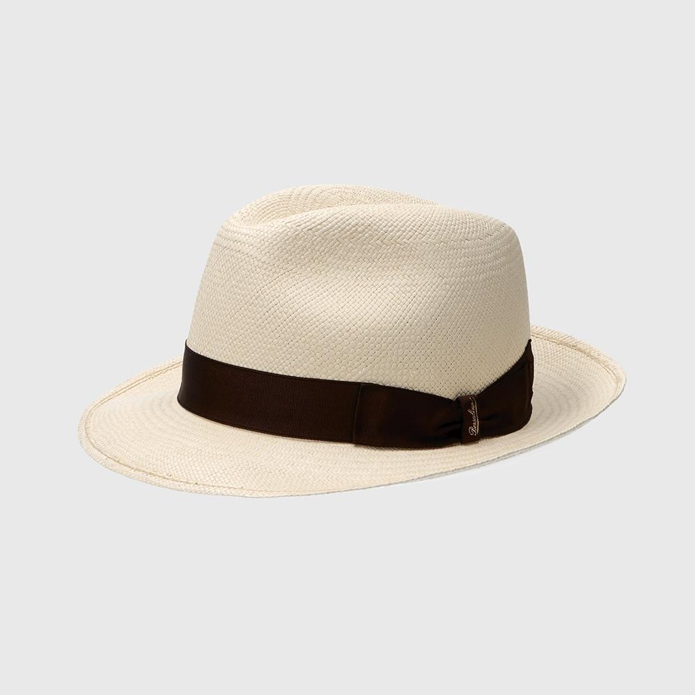 Borsalino Diario Panama Hat Marrone