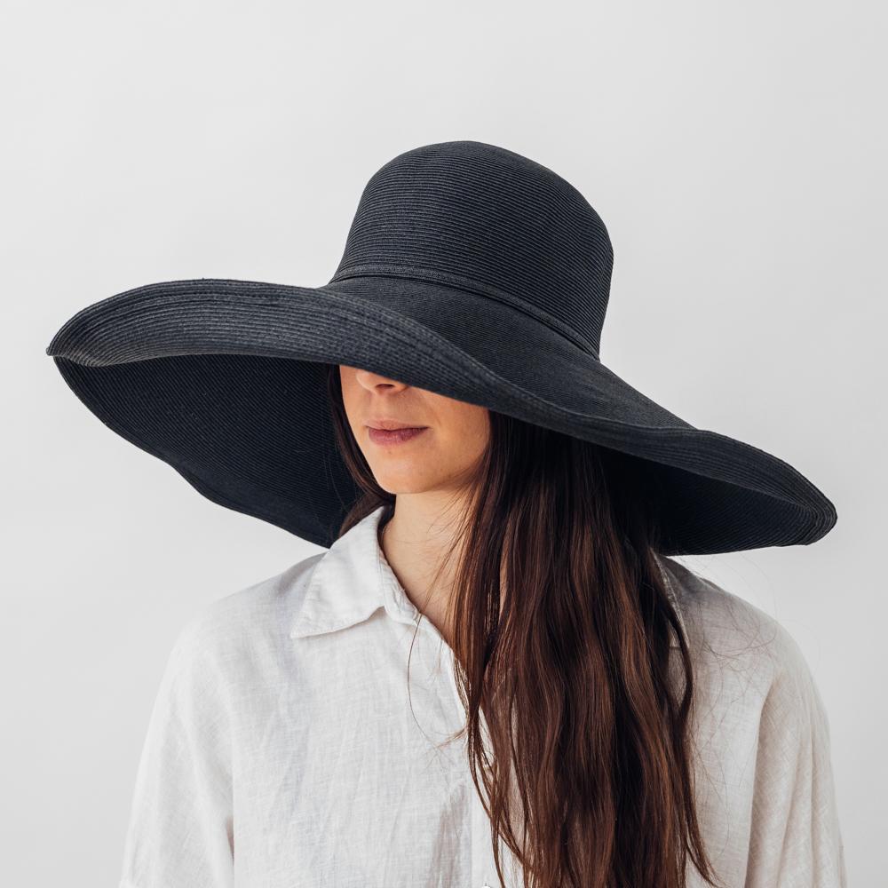Bronté Wide brim Sofie Hat Black