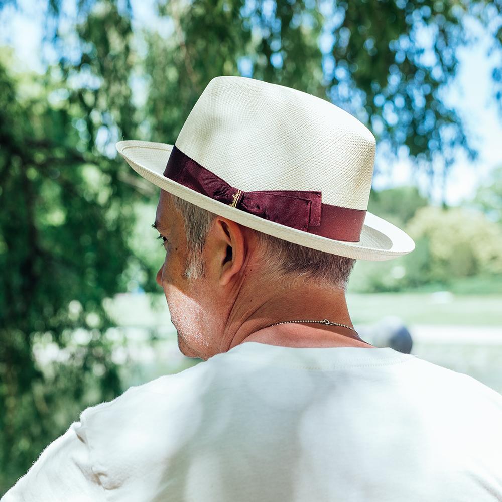 Borsalino Diario Panama Hat Rosso