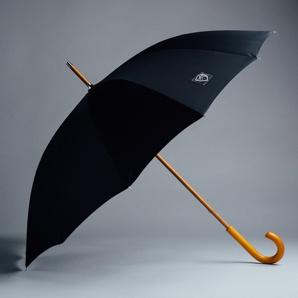 Rain & Son Paraply Svart Klassiskt