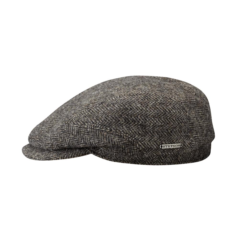 Stetson Driver Cap Wool Herringbone Grey