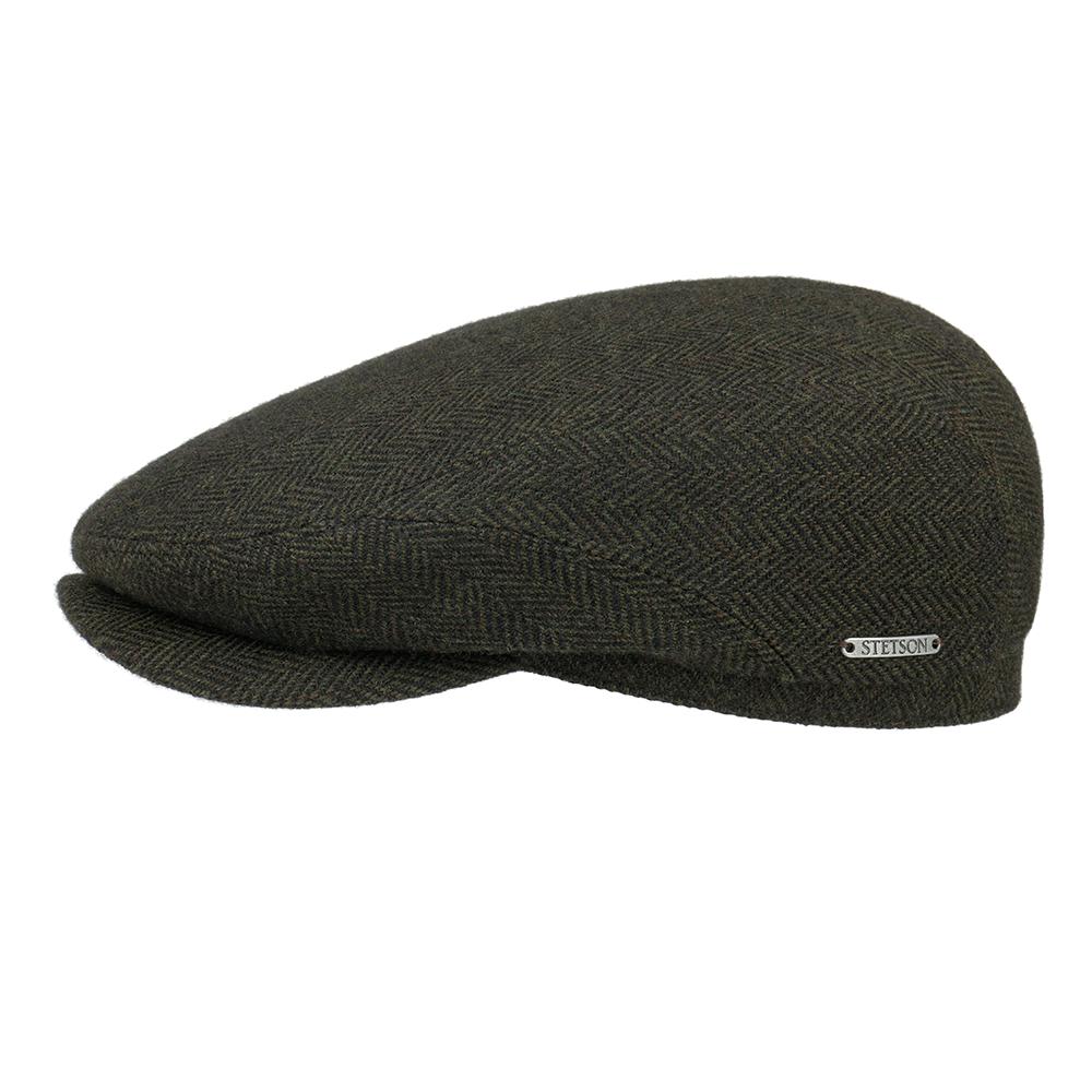 Stetson Driver Cap Wool Herringbone Black