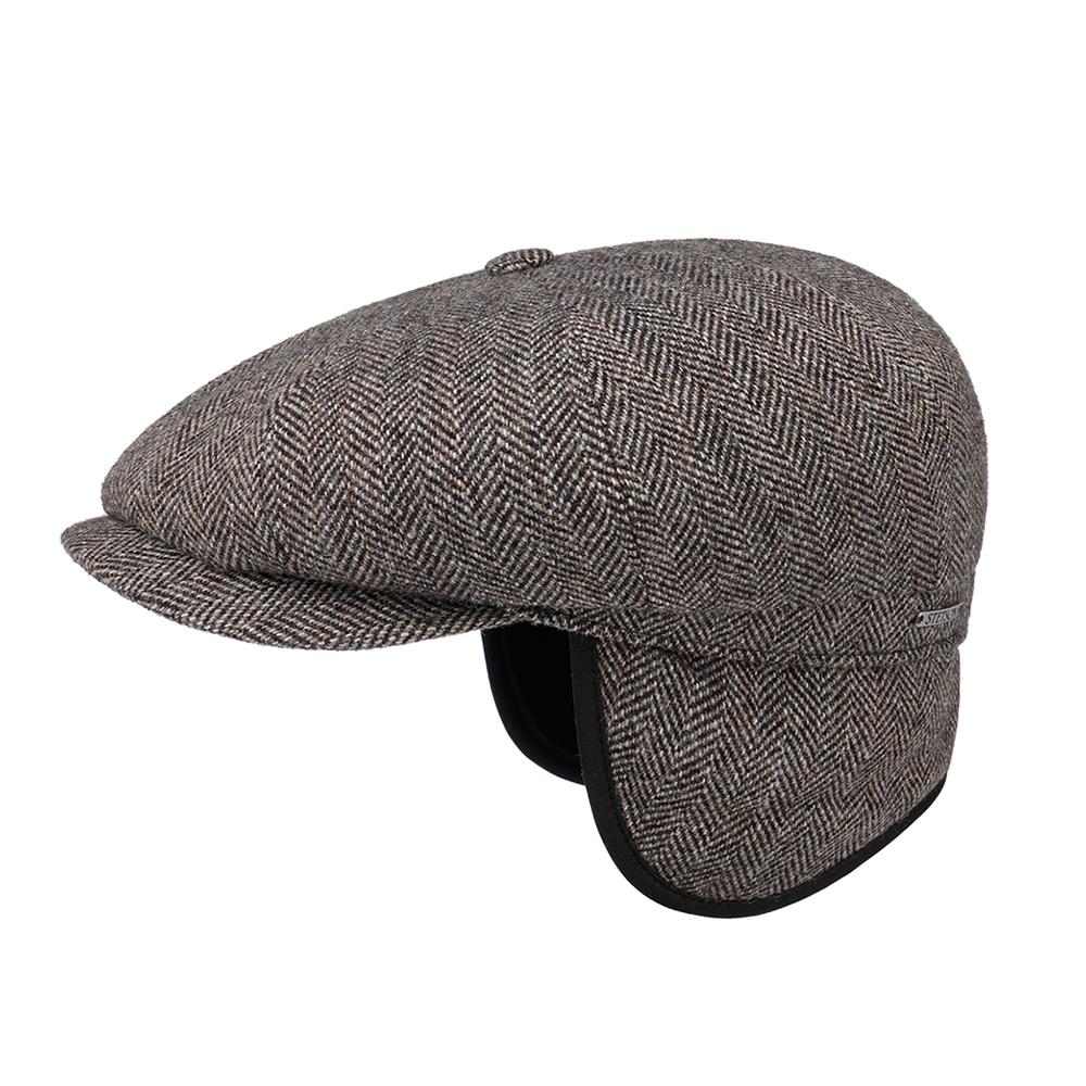 Stetson Hatteras Wool Herringbone Grey