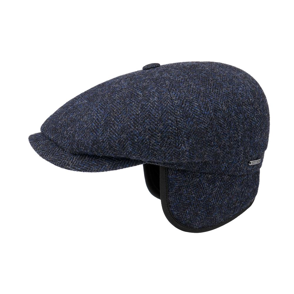 Stetson Hatteras Wool Herringbone Blue