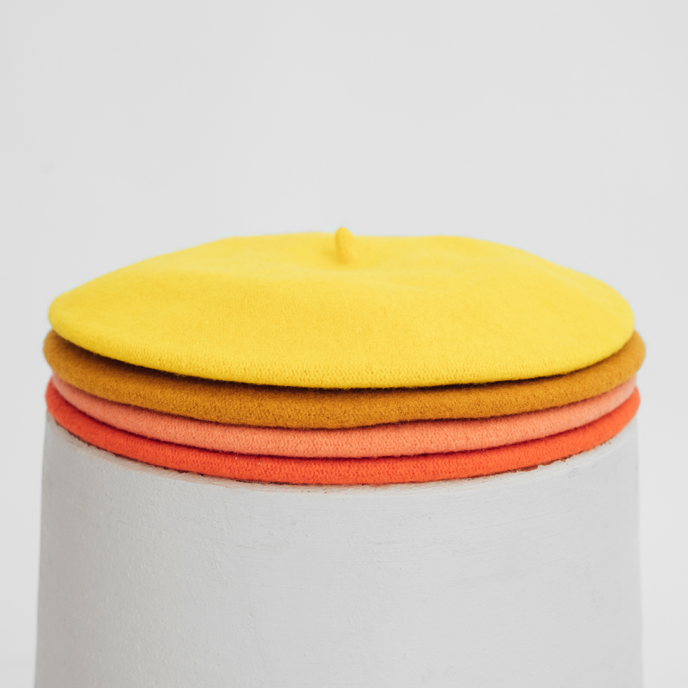 Hatthyllan Beret Palette - Orange/Yellow