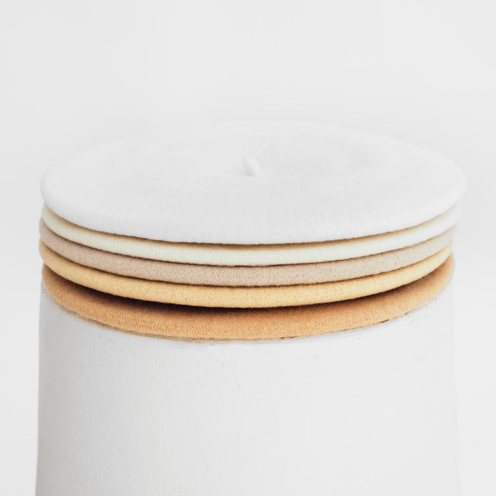 Hatthyllan Beret Palette - White/Beige