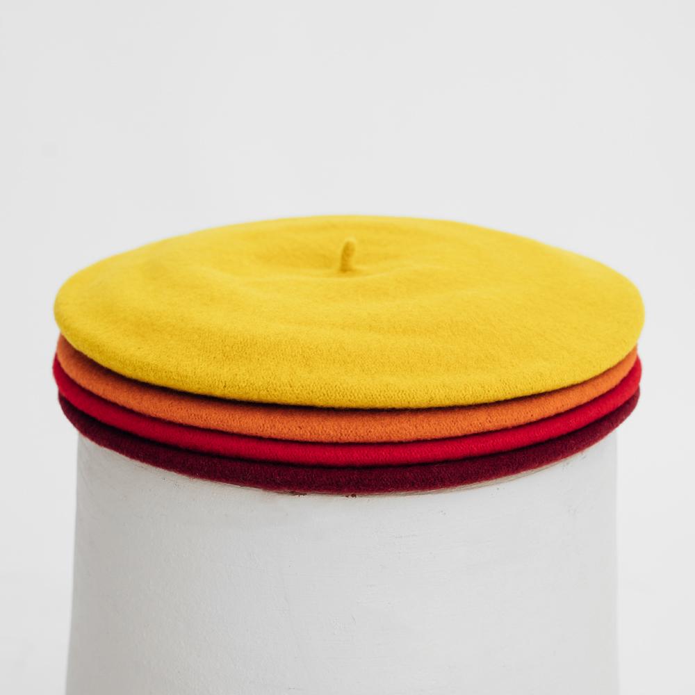 Hatthyllan Beret Palette Volume - Red/Yellow/Orange