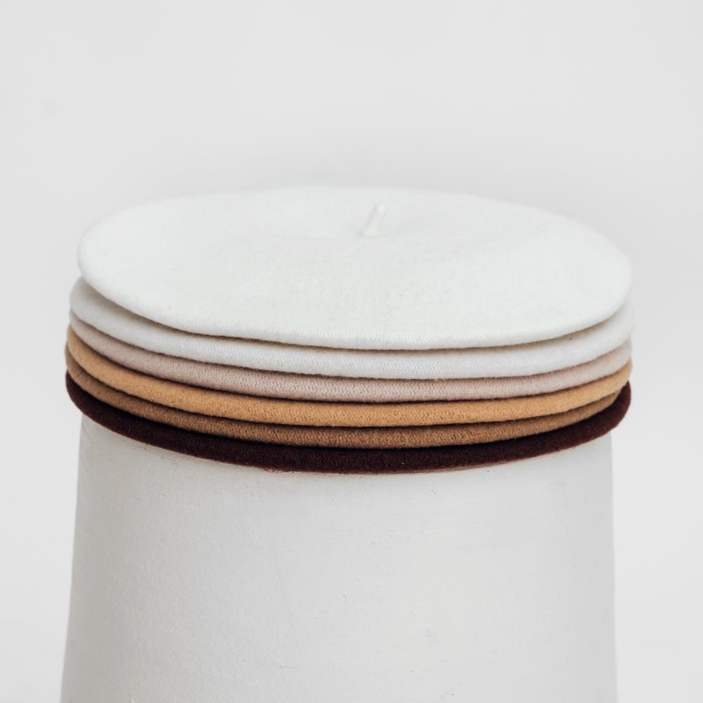 Hatthyllan Beret Palette Volume - White/Beige/Brown