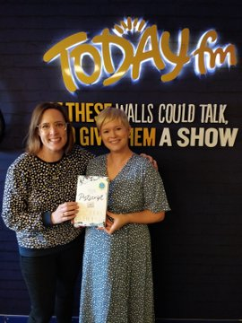 Alison Curtis and Cecelia Ahern Today FM
