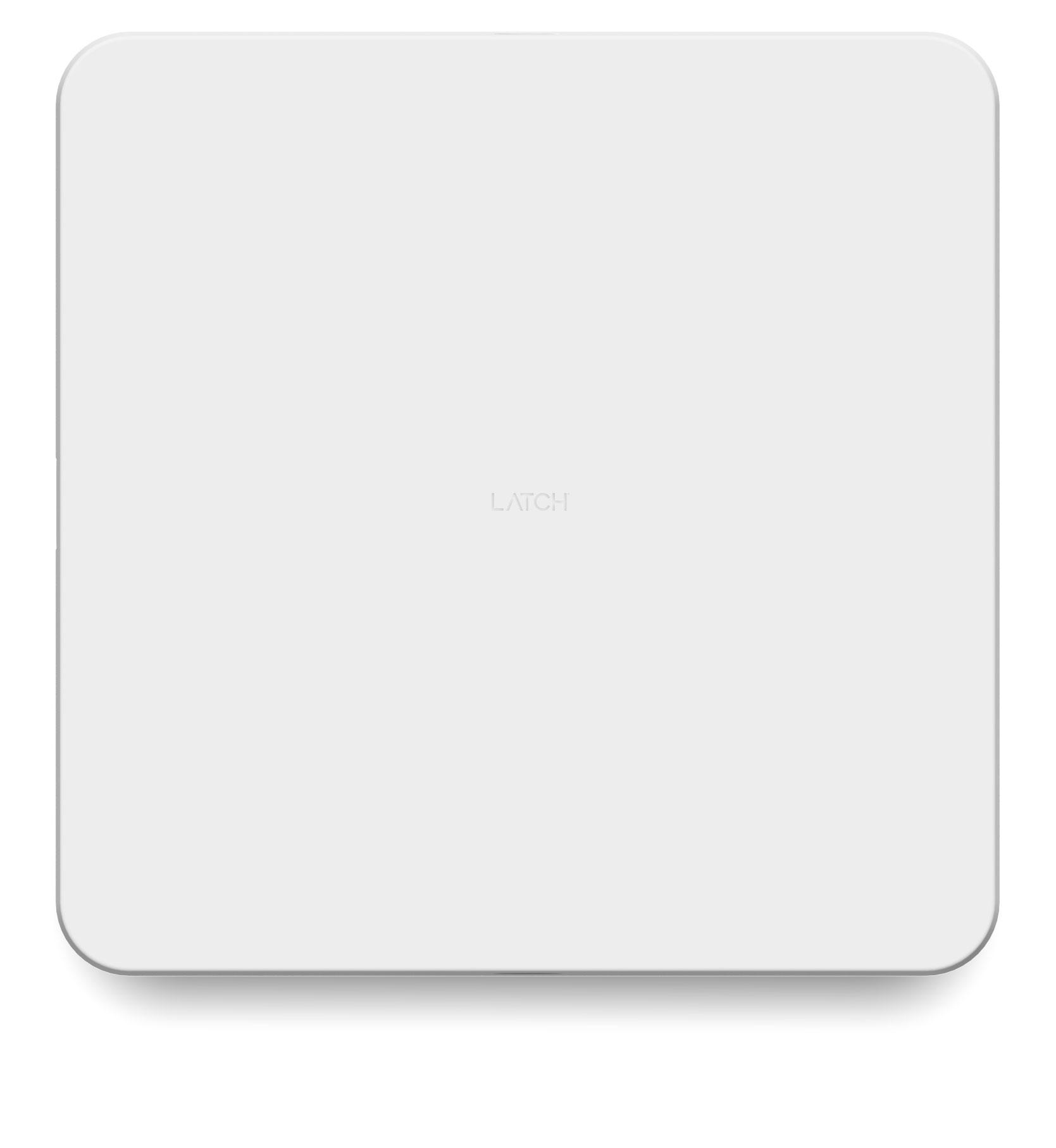 Latch Hub white hardware