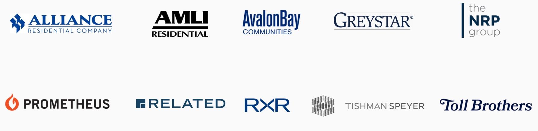 Collection of Latch developer partner logos