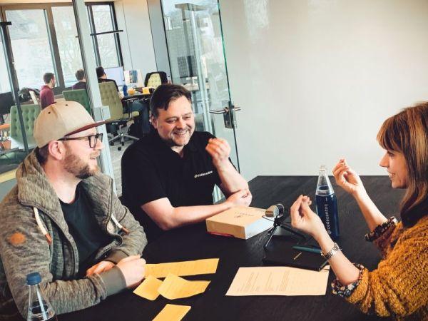 Aufnahme eines Recruiting Podcasts beim IT-Dienstleister Codecentric.