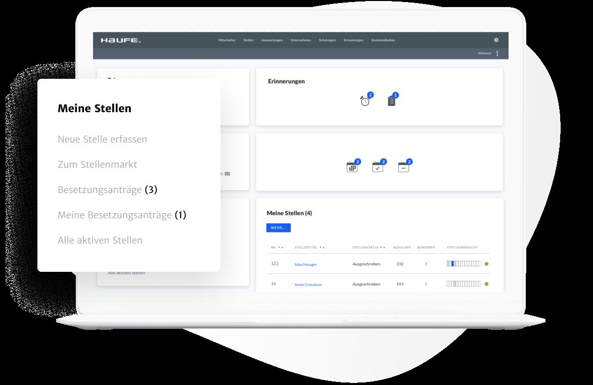 Stellen schnell und einfach über die Bewerbermanagement Softwarelösung beantragen